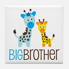 Giraffe Big Brother Tile Coaster