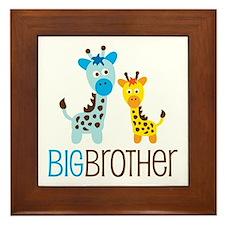 Giraffe Big Brother Framed Tile