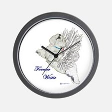 Heavenly Westie Wall Clock