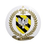 ST. AMAND Family Crest Ornament (Round)