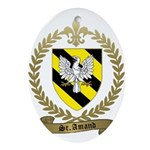 ST. AMAND Family Crest Ornament (Oval)