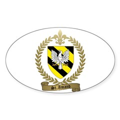 ST. AMAND Family Crest Sticker (Oval)