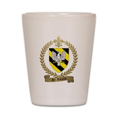 ST. AMAND Family Crest Shot Glass