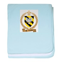 ST. AMAND Family Crest baby blanket