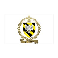 ST. AMAND Family Crest 38.5 x 24.5 Wall Peel