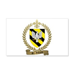 ST. AMAND Family Crest 22x14 Wall Peel