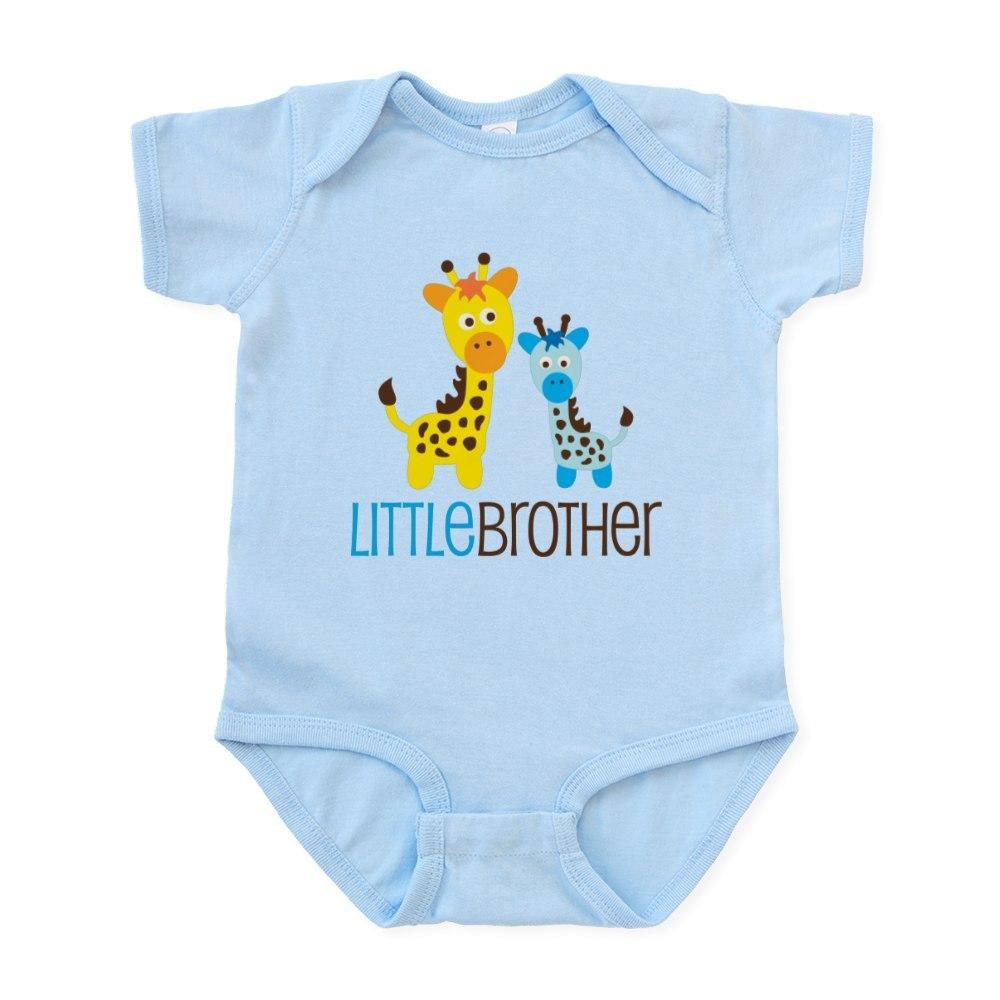 CafePress Giraffe Little Brother Infant Bodysuit