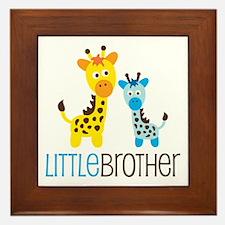 Giraffe Little Brother Framed Tile