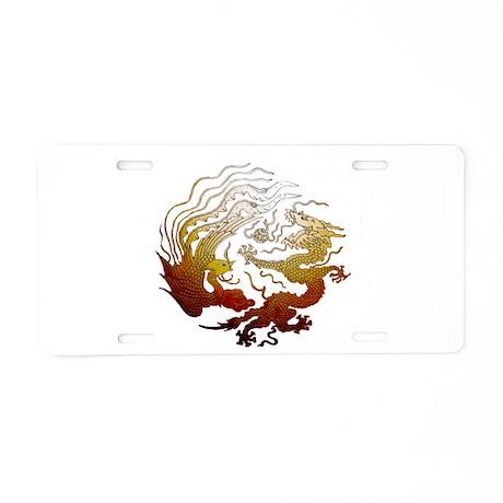 Chinese Dragon & Pheasant Aluminum License Plate