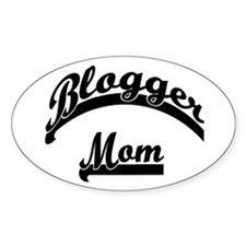 Blogger Mom Oval Decal