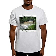 Tahquamenon Falls Summer Ash Grey T-Shirt