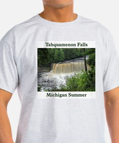 Tahquamenon Falls Summer Ash Grey T-Shirt