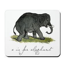 E is for Elephant Mousepad