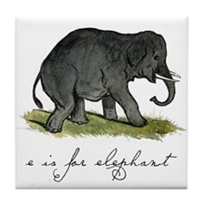 E is for Elephant Tile Coaster