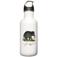 E is for Elephant Water Bottle