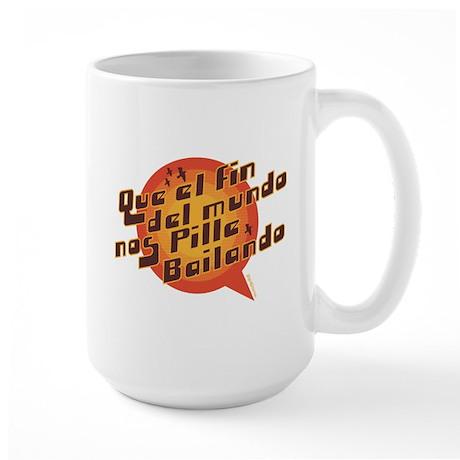 QUE EL FIN DEL MUNDO NOS PILL Large Mug