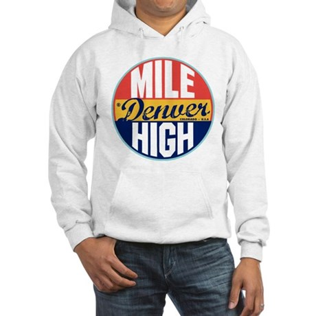 Denver Vintage Label Hooded Sweatshirt