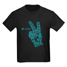 MP-tshirtPeaceHand-blue2 T-Shirt