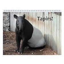 Wall Calendar-Tapirs!