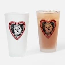 ADD PHOTO - heart frame Drinking Glass