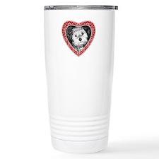ADD PHOTO - heart frame Travel Mug