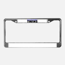 Hard to scare mother of twins License Plate Frame