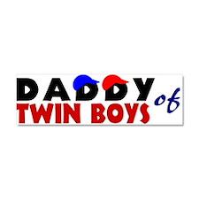 Daddy of twin boys Car Magnet 10 x 3