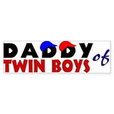 Daddy of twin boys Bumper Sticker