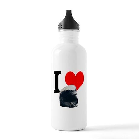 I love Honey Stainless Water Bottle 1.0L