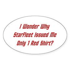 Starfleet: Only 1 Red Shirt? Decal