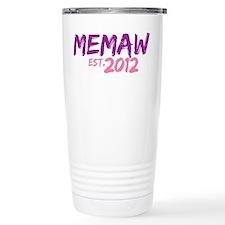 Memaw Est 2012 Travel Mug