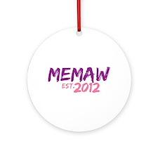 Memaw Est 2012 Ornament (Round)