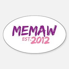 Memaw Est 2012 Decal