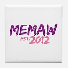 Memaw Est 2012 Tile Coaster