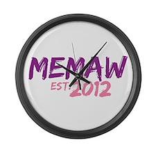 Memaw Est 2012 Large Wall Clock