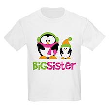 2 Penguins Big Sister T-Shirt