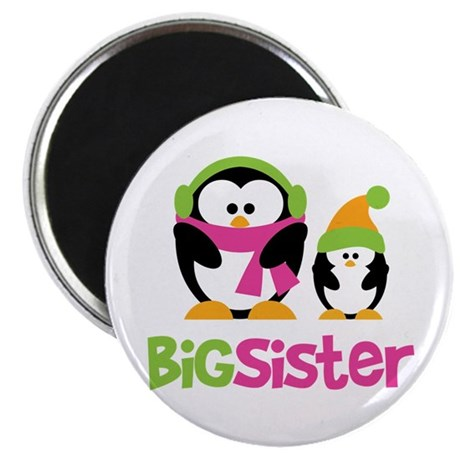 2 Penguins Big Sister Magnet