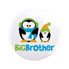 "2 Penguins Big Brother 3.5"" Button"