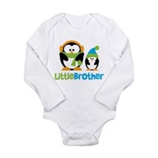 2 Penguins Little Brother Long Sleeve Infant Bodys