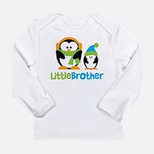2 Penguins Little Brother Long Sleeve Infant T-Shi