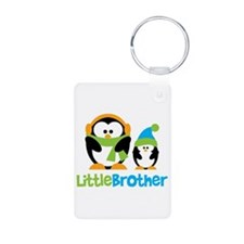 2 Penguins Little Brother Aluminum Photo Keychain