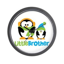 2 Penguins Little Brother Wall Clock