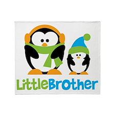 2 Penguins Little Brother Throw Blanket