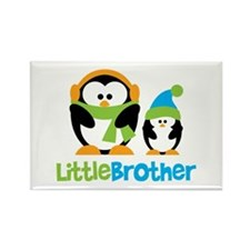 2 Penguins Little Brother Rectangle Magnet