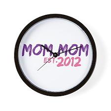 Mom Mom Est 2012 Wall Clock