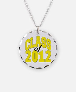 Class of 2012 (yellow) Necklace Circle Charm
