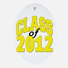 Class of 2012 (yellow) Ornament (Oval)