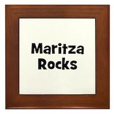 Maritza Rocks Framed Tile