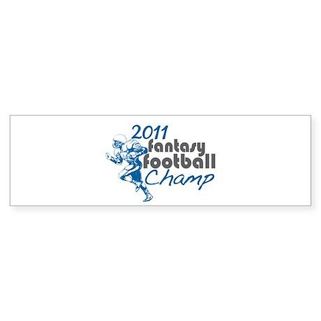 2011 Fantasy Football Champ Sticker (Bumper 50 pk)