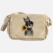 Sunflower Schnauzer Messenger Bag